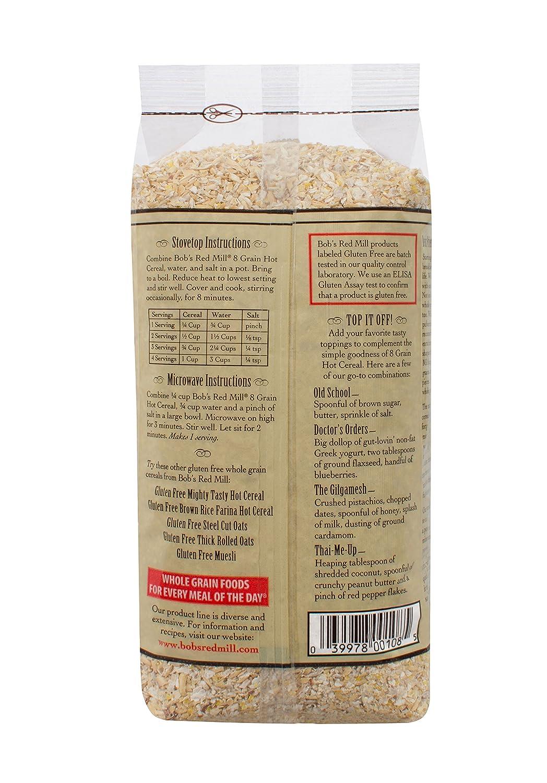 Amazon bobs red mill gluten free 8 grain hot cereal 27 ounce amazon bobs red mill gluten free 8 grain hot cereal 27 ounce pack of 4 breakfast cereals ccuart Gallery