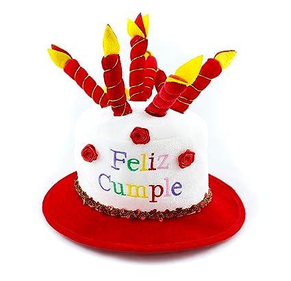 Gran Festival- Gorro de Cumpleaños, Color rojo (1): Amazon ...