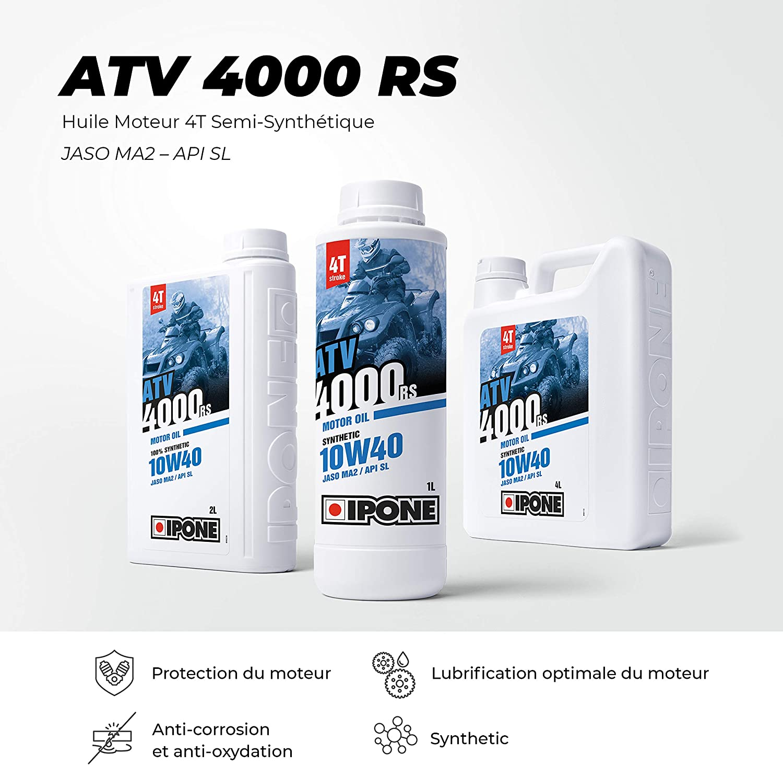 Ipone 800377 Öl Motor Atv 4000 4 Takt Synthetik Plus 10w40 Atv Auto