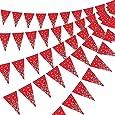 Boao Paquete de 5 Banderín Banderín, Accesorio de la Fiesta del Lejano Oeste para la Decoración Temática de la Parte Occidental del Vaquero, 7,4 x 10,8 Pulgadas