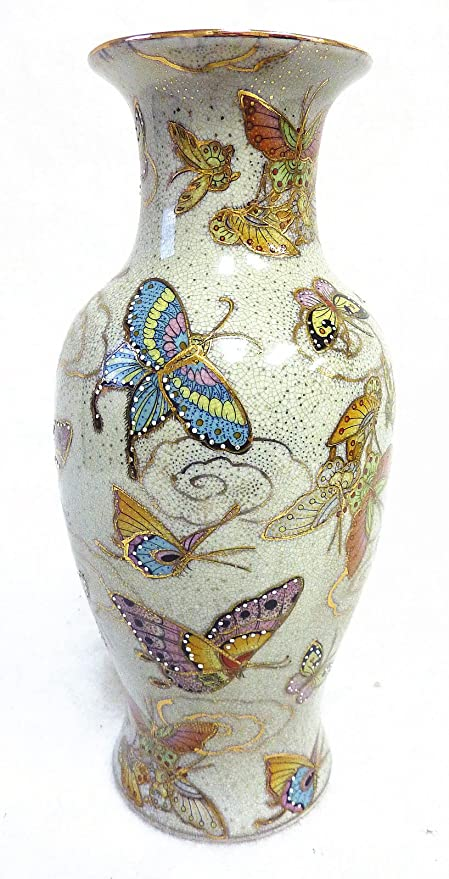 Amazon 12h Chinese Butterfly Satsuma Hand Painted Porcelain