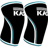 KASP Knee Sleeves 7mm Neoprene Support Brace Designed for Weightlifting, Cross Training & Powerlifting - Injury Prevention & Recovery – Exercise & Workout Aid for Men & Women