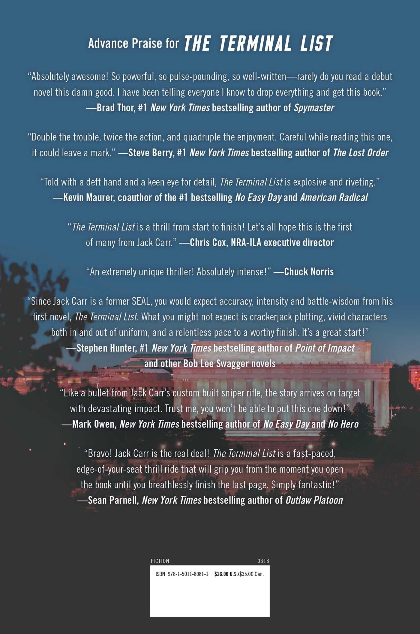 Amazon.com: The Terminal List: A Thriller (9781501180811): Jack Carr ...
