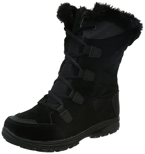 Columbia Women's ICE Maiden II Snow Boot, Black, Grey, 5 B US
