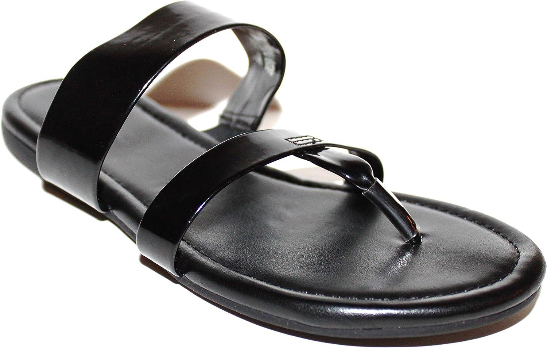 Solid Black Jelly Flip Flop Sandals