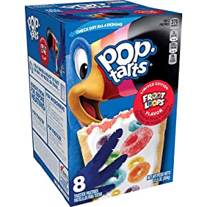 Pop Tarts FROOT LOOPS Flavor 1-Box 8 Toaster Pastries