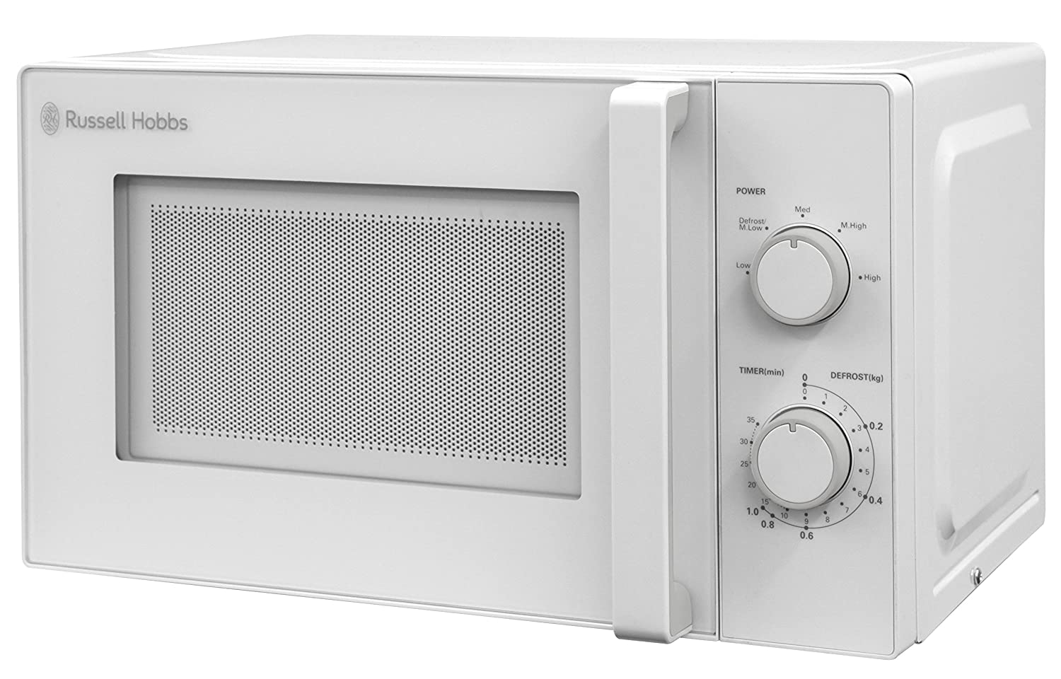 Russell Hobbs RHM2077 20L Manual 800w Solo Microwave White
