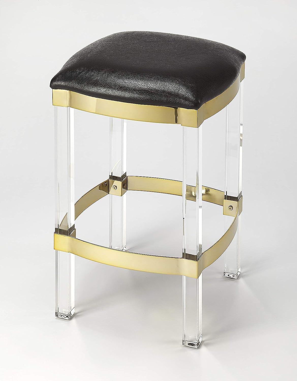 Prime Amazon Com Butler Counter Stool In Black Leather Finish Ibusinesslaw Wood Chair Design Ideas Ibusinesslaworg