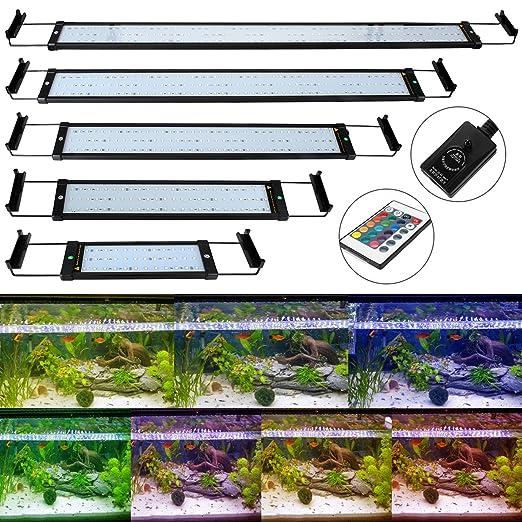 2 opinioni per GreenSun 71.5cm 18W regolabile lunghezza Illuminazione Acquario RGB 108 LED