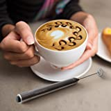 Savvy Coffee Handheld Milk Frother Wand with Stand