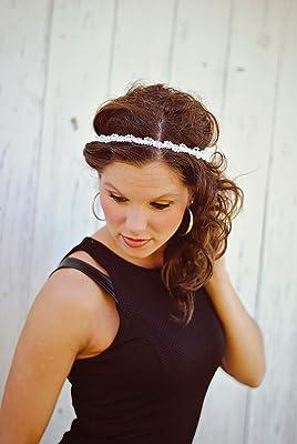 White Pearl Twist Boho Headband - Forehead Headband - Bohemian Gypsy Headbands - Bohemian Hippie Headband - Indie Fashion Hair Accessories
