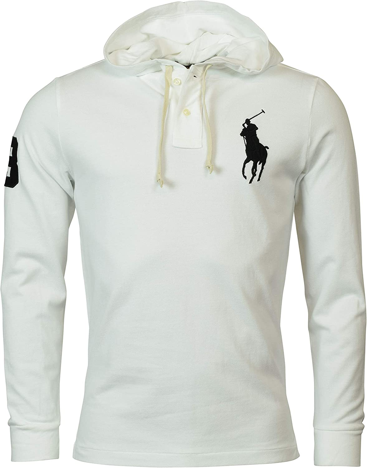 Polo Ralph Lauren Mens Classic Fit Mesh Big Pony Hoodie