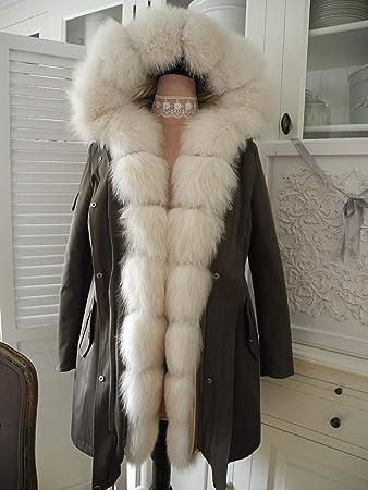 PELZ PARKA MISS & Furs XXL Fuchspelz Kapuze + Pelz