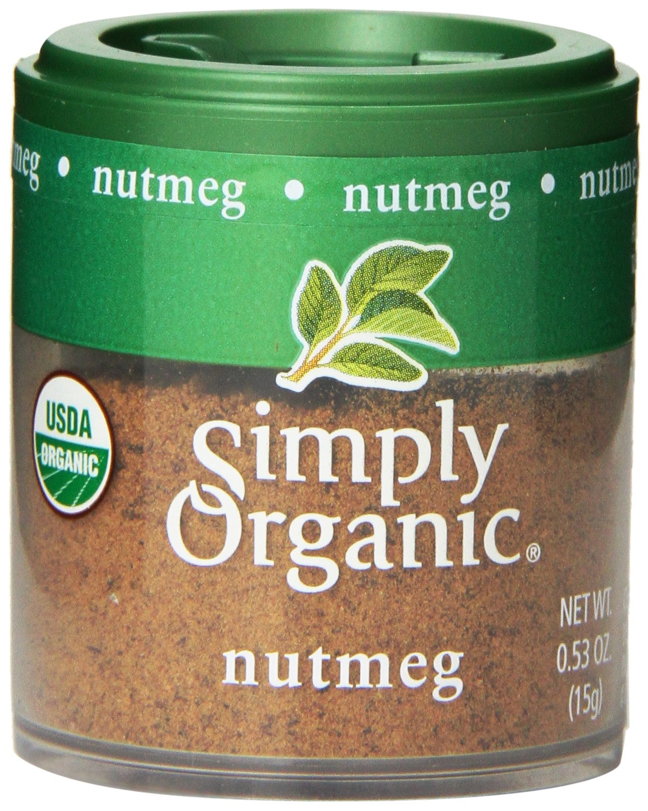 Simply Organic Mini, Og, Nutmeg Ground, 0.53-Ounce (Pack of 6)