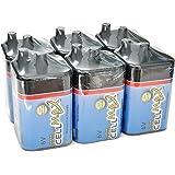 CellMax CM-4R25-SP1 - (6) Lantern Super Heavy Duty 6-Volt Batteries (6, 1-Packs)