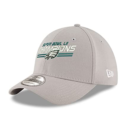 519ddd0d3 New Era Philadelphia Eagles Super Bowl LII Champions 39THIRTY Flex Hat Gray  (S M