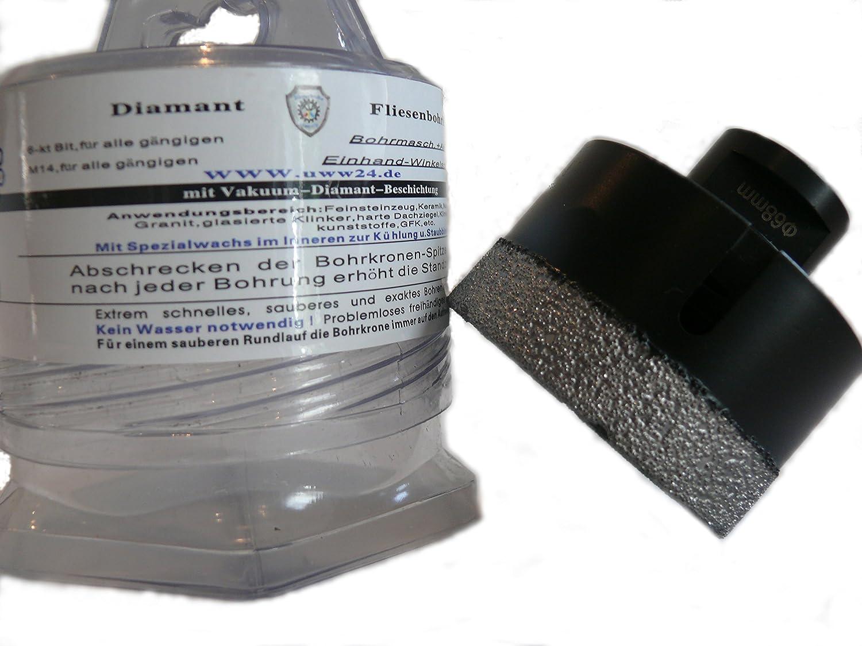 M 14 Diamantbohrer Trocken Kühlwachs Diamant Fliesenbohrer Bohrkrone 6-68 mm