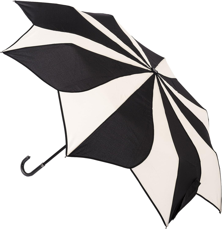gaixample.org Everyday Swirl Black/Cream Folding Umbrella ...