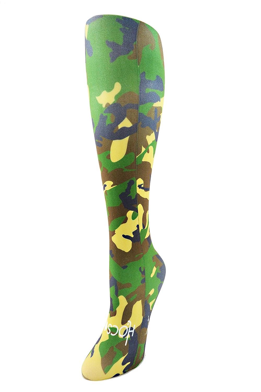 Hocsocx Camo Liner UNDER socks for Hockey, Football- 3 colours for girls/women Blue Camo)