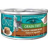 Purina ONE Grain Free Formula Classic Beef Recipe Premium Pate Cat Food - (24) 3 oz. Cans