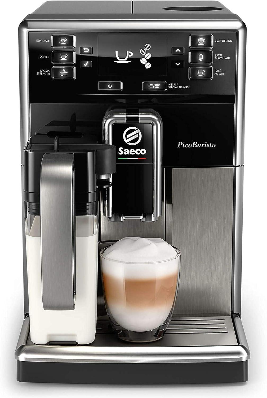 Saeco súper automática SM5479/10 Cafetera (Independiente, Máquina Espresso, 1,8 L, Granos, café molido, Molinillo Integrado, Negro, Acero Inoxidable), 1850 W, 1.8 litros: Amazon.es: Hogar