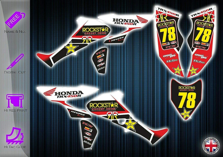 Adhesivos para Honda TRX450R - Kit de gráficos - Adhesivos ...