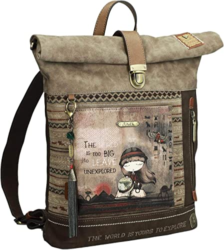 Anekke Original mochila tipo petate en tono tierra: Amazon
