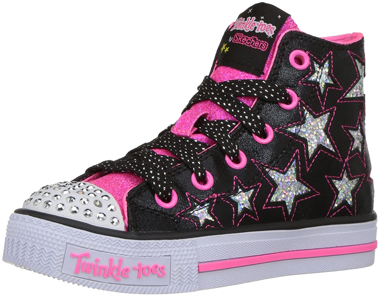Amazon.com | Skechers Kids Twinkle Toes Shuffles Sweet Steps Light ...