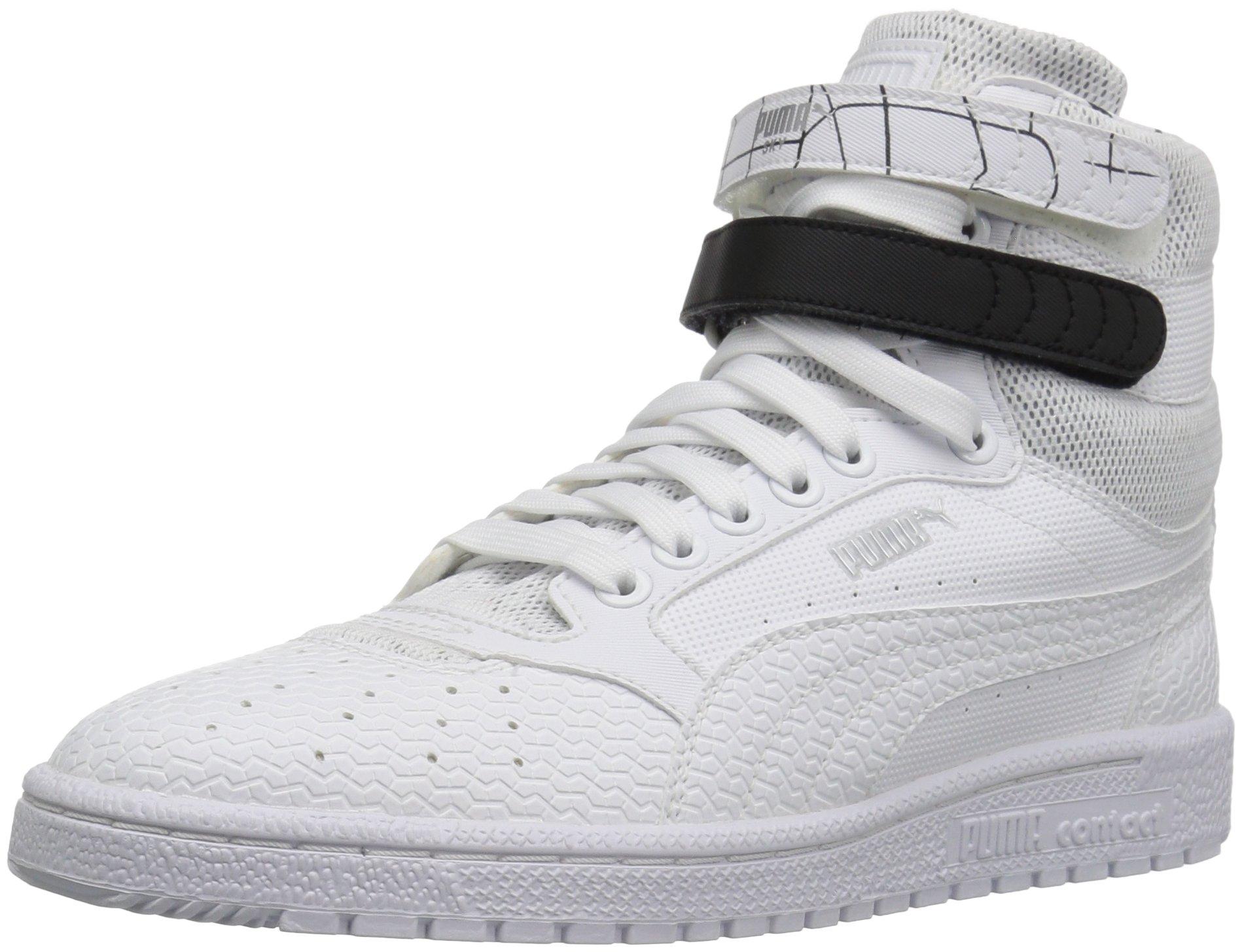 PUMA Women's Sky ii hi sf Texture WN's Basketball Shoe, White Black, 8.5 M US by PUMA