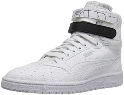 PUMA Women's Sky II Hi SF Texture Wn's Basketball Shoe, White Black, ...