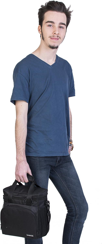Bleu Roi InsigniaX Sac Isotherme Repas S1 Thermos Lunch//Dejeuner Bag//Box pour Les Hommes Femme Fille Garcon Bebe Enfant Travail avec Tupperware Taille 25,4 x 13 x 23,3 cm Standard