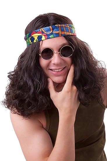 Hippie Perucke Fur Herren Braun 60er 70er Jahre Hippieperucke
