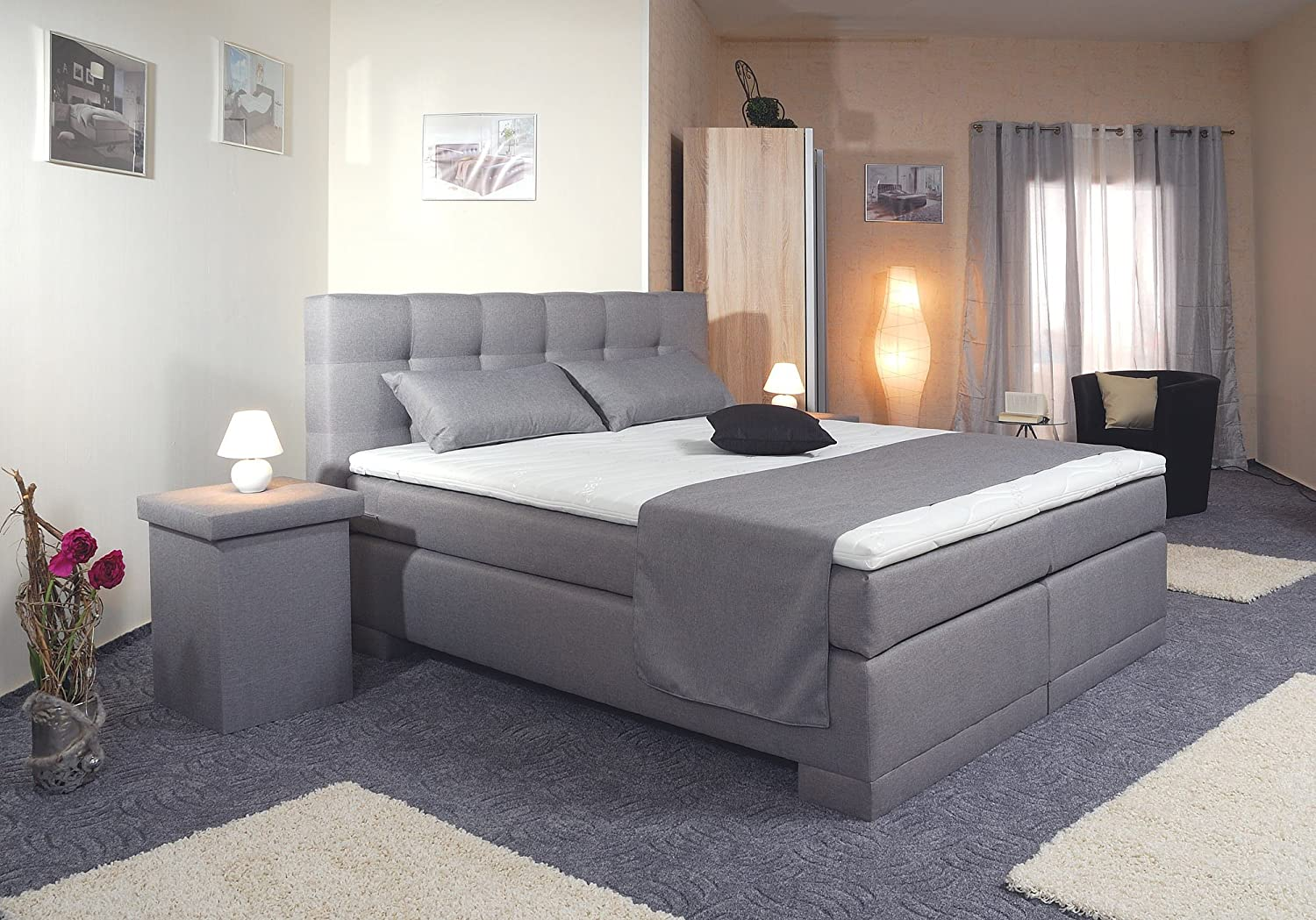 spenger bettenstudio boxspringbett florin 200x200 cm. Black Bedroom Furniture Sets. Home Design Ideas