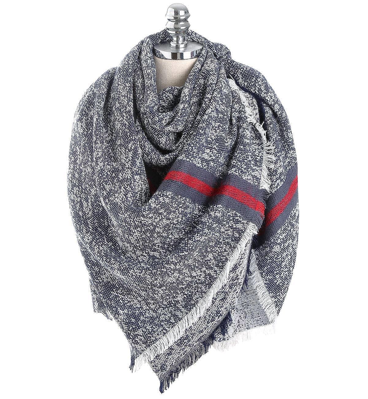 Superora Bufanda para Mujer Invierno Chal Manta Mantón Fular Grande Enorme Larga Cachemira 150 * 130cm