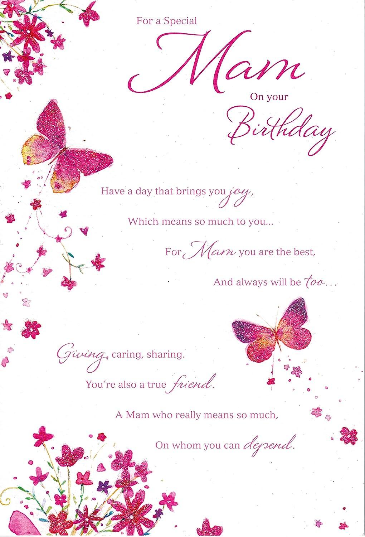 Mam on your birthday birthday card amazon office products kristyandbryce Choice Image