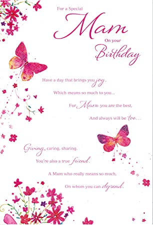 Mam On Your Birthday Card Amazon Co Uk Office Products