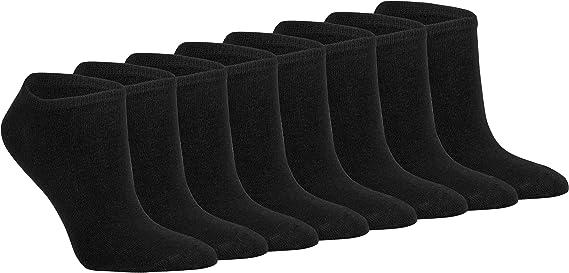 Gesundheitsstrumpf 8 Paar Natur 100/% Baumwoll-Sneaker Socken F/üsslinge ohne Naht Kochfest
