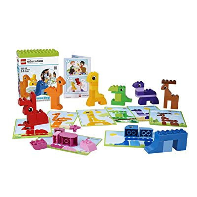 Animal Bingo Game for Shape and Color Recognition by LEGO Education DUPLO: Toys & Games