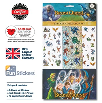 Beast quest sticker album set
