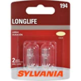 SYLVANIA - 194 Long Life Miniature - Bulb, Ideal for Interior Lighting – Trunk, Cargo and License Plate (Contains 2…