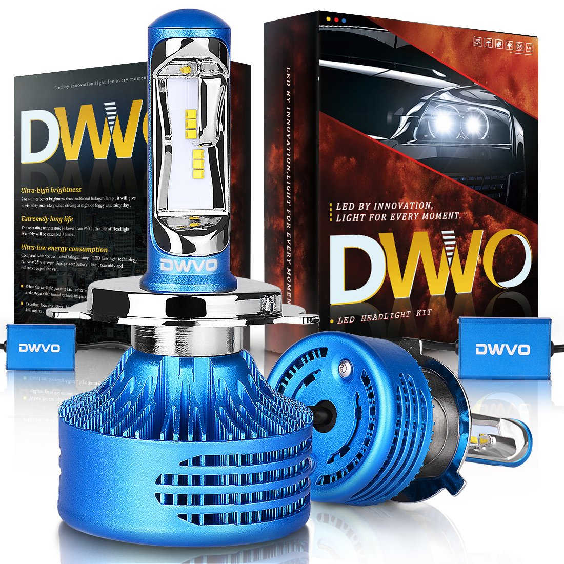 Dwvo H4 9003 Hb2 Led Headlight Bulbs 65k 16000lm 1970 Camaro Wiring Diagram Android Apps On Google Play Philips Chip Conversion Kit Hi Lo Beam Super Bright Ip68 Waterproof Automotive