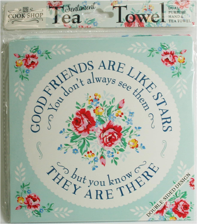 Cook Shop 207030006Good friends are like stars Tea Towels Pistachio Green