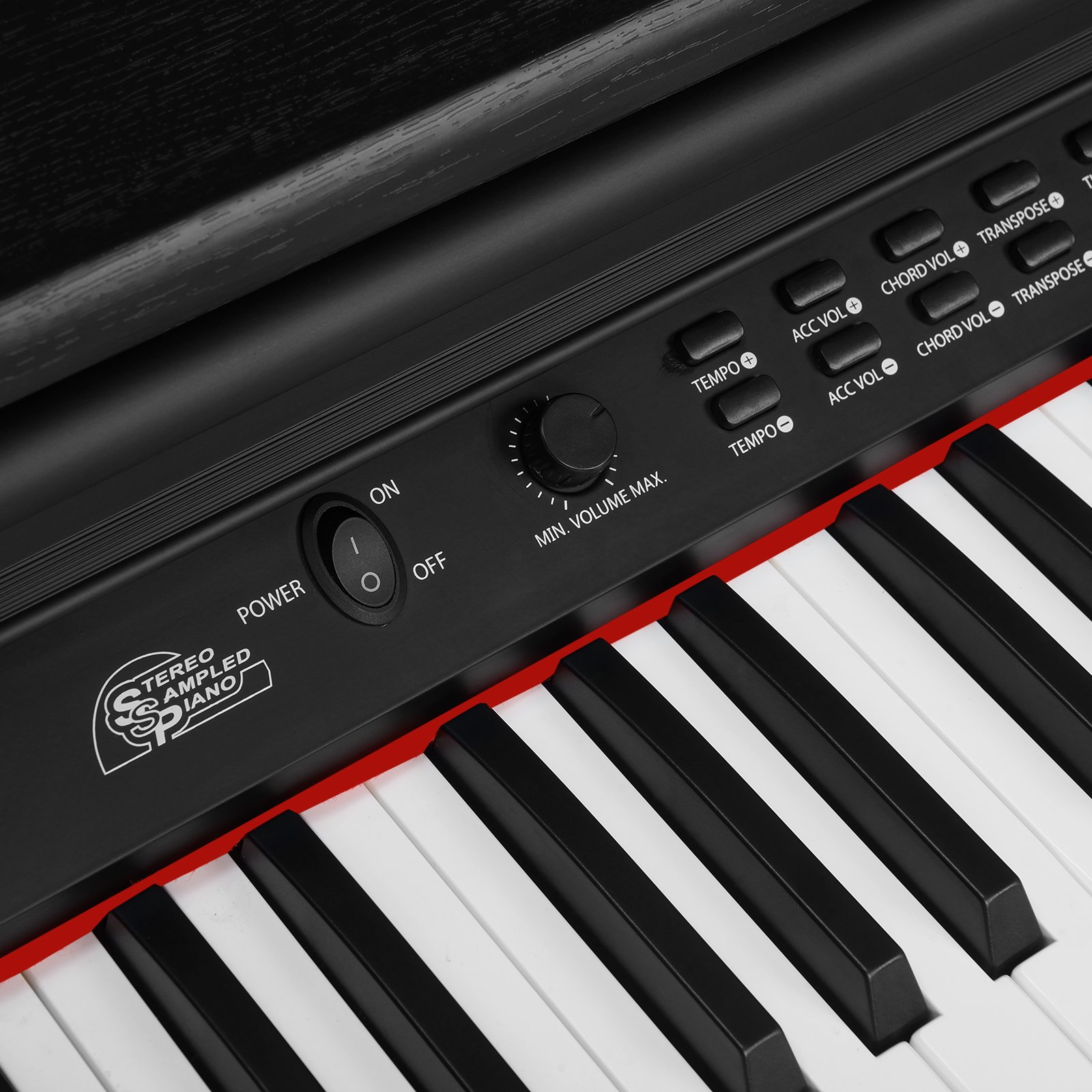 LAGRIMA Digital Piano, 88 Keys Electric Keyboard Piano for Beginner(Kids/Adults) w/Music Stand+Power Adapter+3 Metal Pedals+Instruction Book, 2 Headphone Jack/Midi/USB Audio Output by LAGRIMA (Image #3)
