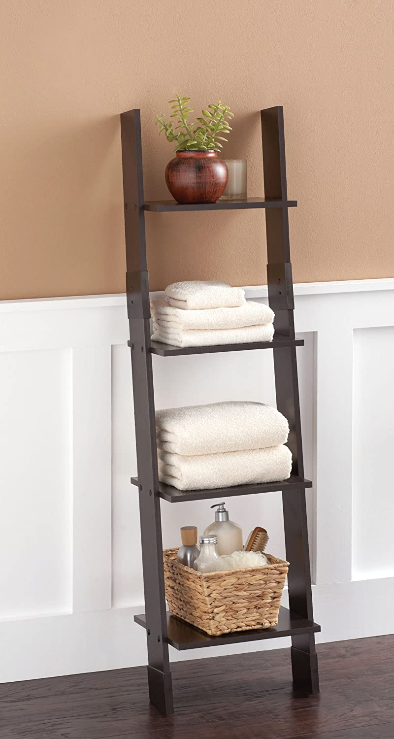 Amazon.com: Zenna Home 9437CH, Wood Ladder Linen Tower, Espresso: Kitchen U0026  Dining