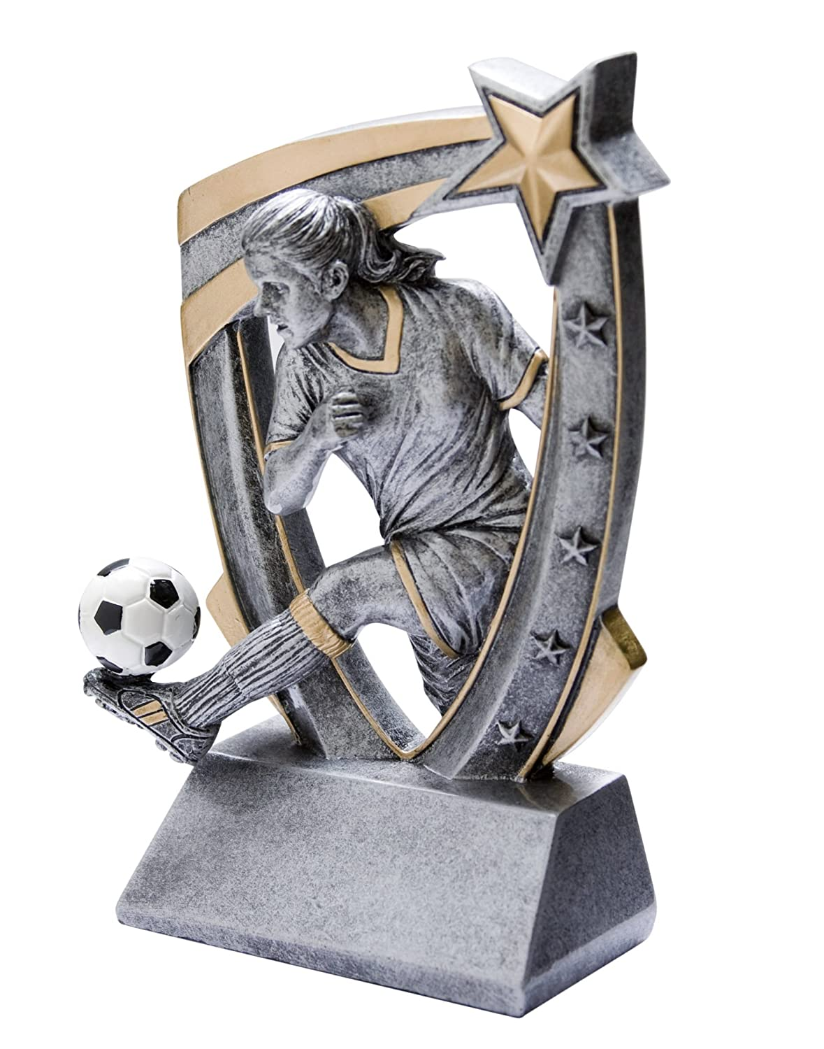 Free Engraved Plate on Request Decade Awards ⚽ Soccer Halo Trophy ⚽ Futbol Award 5 Inch Tall