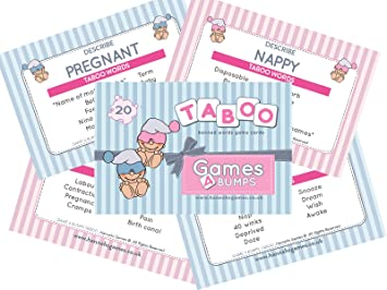 Hannah S Games Taboo Banned Words Activity Game 20 Pack Baby