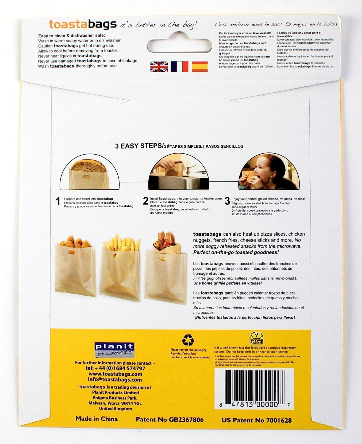 Amazon.com: Toastabags individual Pack – Queso a la parrilla ...