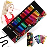 36 Colored Pencils Set, Art Coloring Pencils for Adults and Kids, Soft Wax Core. Comes with a Hand-made Portable Folding Canv