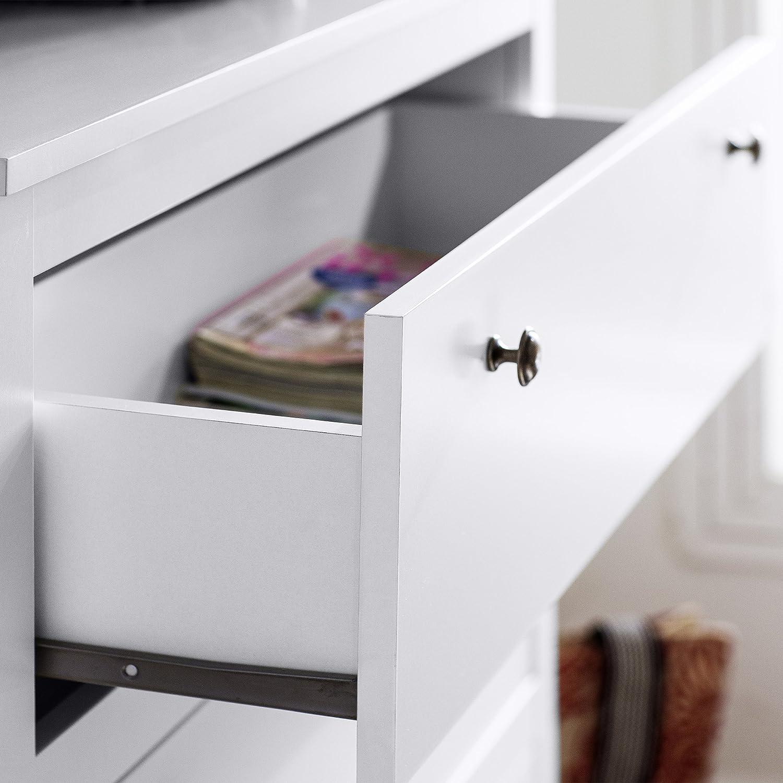 Trendteam Mueble Armario ropero, 3 SK, Blanco, 92 x 98 x 110 cm ...