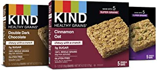 product image for KIND Healthy Grains Granola Bars, Variety Pack, Double Dark Chocolate, Cinnamon Oat, Maple Pumpkin Seeds with Sea Salt, 1.2 oz, 15 Count